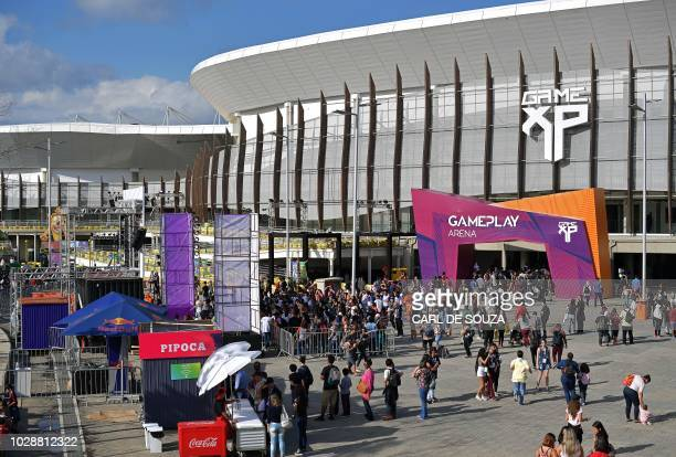 General view of the Game XP event at the Olympic Park in Rio de Janeiro Brazil on September 7 2018 The four day event aims to be the largest video...