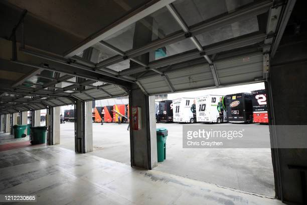 A general view of the garage area at Atlanta Motor Speedway on March 13 2020 in Hampton Georgia NASCAR is suspending races due to the ongoing threat...