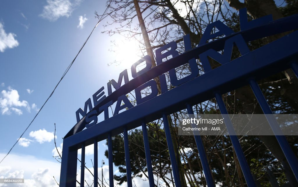 General view of the gate outside ahead of the Sky Bet League One match between Bristol Rovers and Shrewsbury Town at Memorial Stadium on April 1, 2017 in Bristol, England.