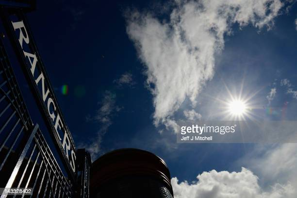 A general view of the gates at Ibrox Stadium home to Glasgow Rangers Football Club on April 24 2012 in Glasgow Scotland Rangers have received a 12...