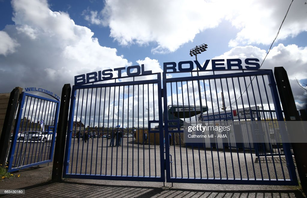 General view of the gates outside ahead of the Sky Bet League One match between Bristol Rovers and Shrewsbury Town at Memorial Stadium on April 1, 2017 in Bristol, England.
