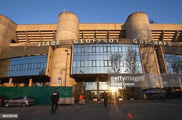 8 General view of the GeoffroyGuichard stadium before the UEFA Cup Round of 16 second leg match between AS St Etienne and SV Werder Bremen at the...