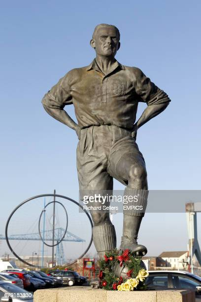 General view of the George Hardwick statue outside the Riverside Stadium