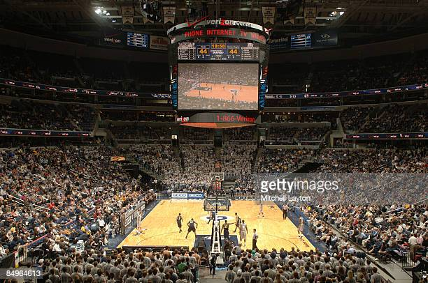 General view of the Georgetown Hoyas during a college basketball game against the Marquette Golden Eages on February 21 2009 at Verizon Center in...