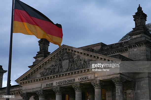 A general view of the German lower House of Paliament the Reichstag which houses Germany's parliament the Bundestag is seen on August 03 2007 in...