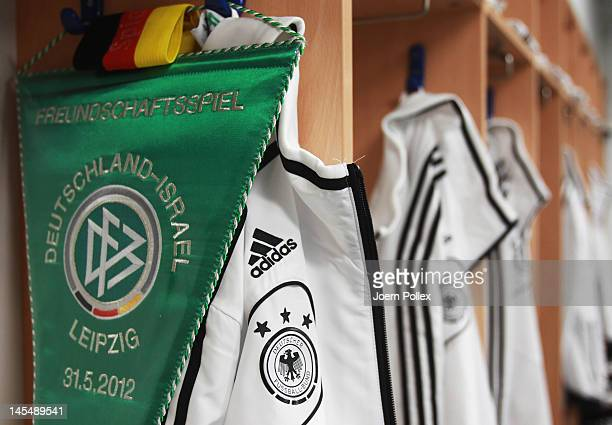 General view of the Germany dressing room ahead the international friendly match between Germany and Israel at Zentralstadion on May 31, 2012 in...