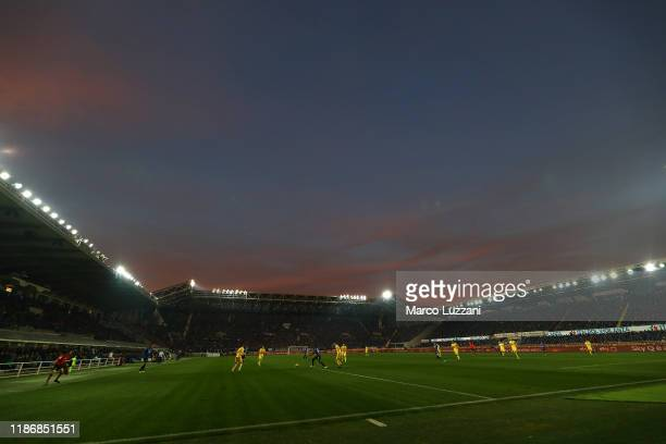 A general view of the Gewiss Stadium during the Serie A match between Atalanta BC and Hellas Verona at Gewiss Stadium on December 7 2019 in Bergamo...