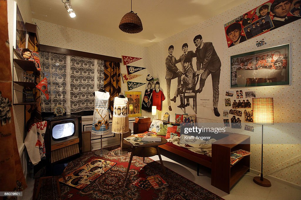 A general view of the 'girlie room' is seen at the Beatlemania exhibition on May 28, 2009 in Hamburg, Germany. The exhibition, which opens tomorrow, shows the development of the Beatles from their beginnings in Hamburg until they split up.