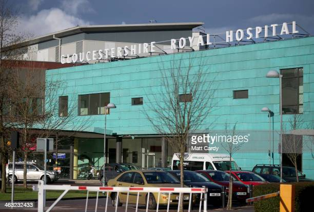 General view of the Gloucestershire Royal Hospital on January 17, 2014 in Gloucester, England. The Queen's granddaughter and Olympic silver-medalist...