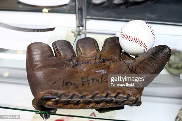 A general view of the glove worn by Singer Madonna during A League of Their Own at the Julien's auctions media preview for Icons Idols Rock N' Roll...
