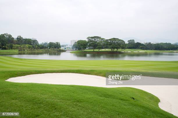 A general view of the golf course during the final round of the Shenzhen International at Genzon Golf Club on April 23 2017 in Shenzhen China