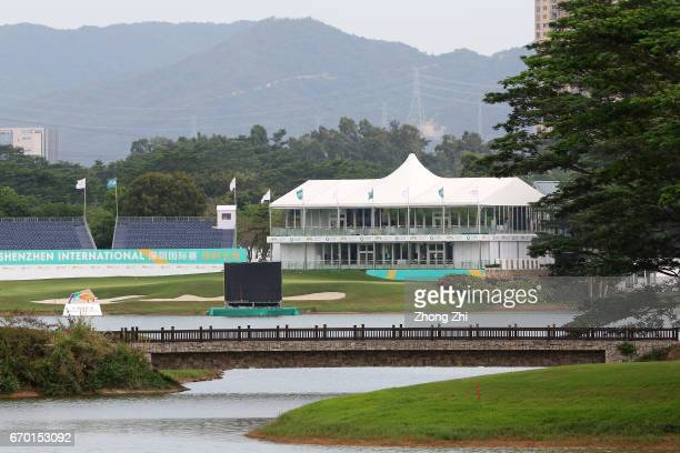 General view of the golf course during the proam prior to the start of the Shenzhen International at Genzon Golf Club on April 19 2017 in Shenzhen...