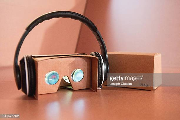 General view of the Google Cardboard viewer used to view the Virtual Reality video which offers viewers a tour of the famous Abbey Road recording...