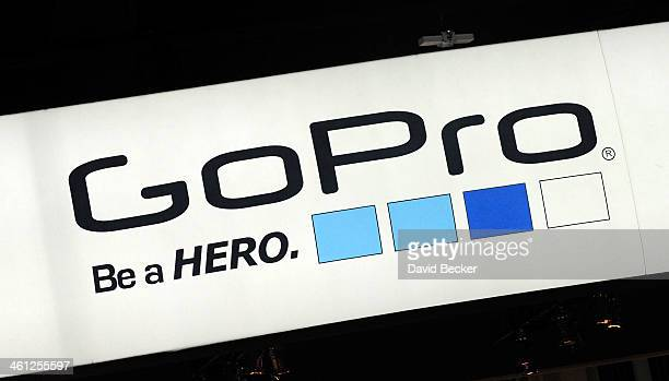 A general view of the GoPro booth at the 2014 International CES at the Las Vegas Convention Center on January 7 2014 in Las Vegas Nevada CES the...