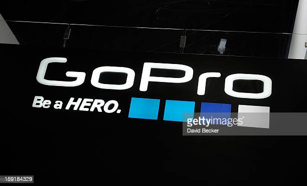 A general view of the GoPro booth is seen at the 2013 International CES at the Las Vegas Convention Center on January 9 2013 in Las Vegas Nevada CES...