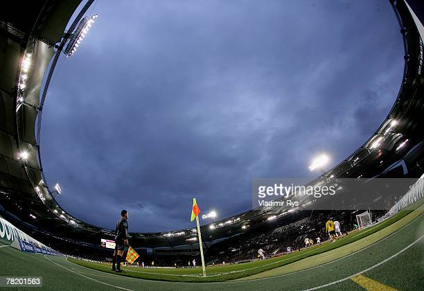 General view of the GottliebDaimler stadium is seen during the Bundesliga match between VfB Stuttgart and Borussia Dortmund at the GottliebDaimler...