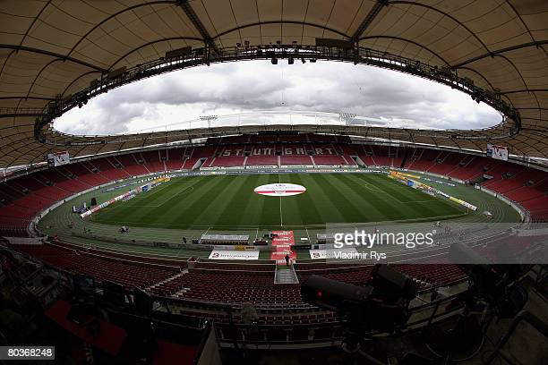 General view of the GottliebDaimler stadium is seen prior to the Bundesliga match between VfB Stuttgart and Hansa Rostock at the GottliebDaimler...