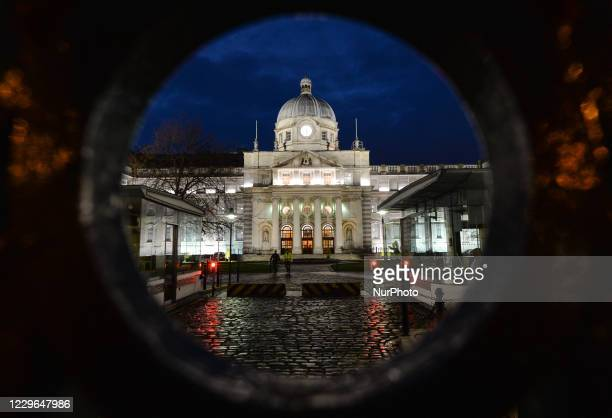 General view of the Government Buildings and the Department of the Taoiseach in Dublin's city center. On Monday, November 16 in Dublin, Ireland.