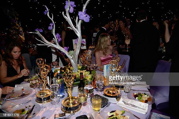 A general view of the Governors Ball during the 65th Annual Primetime Emmy Awards at Nokia Theatre LA Live on September 22 2013 in Los Angeles...
