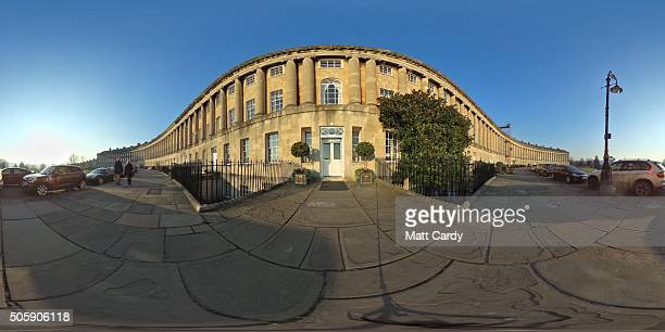 A general view of The Grade I Listed Royal Crescent on January 20 2016 in Bath England Many parts of the UK experienced subzero temperatures last...