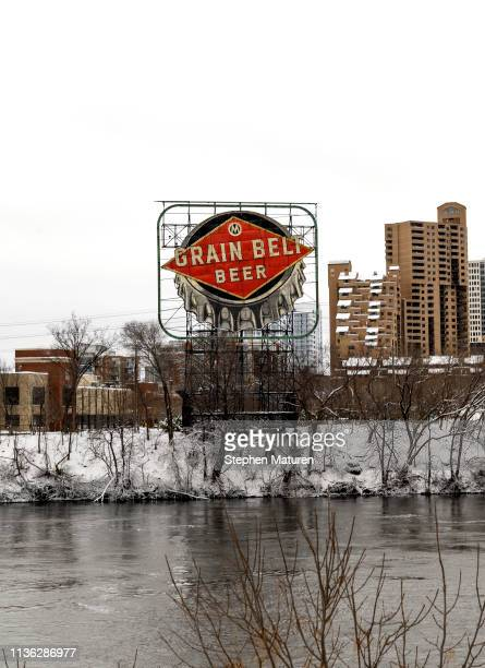 A general view of the Grain Belt Beer sign and the Mississippi River on April 11 2019 in Minneapolis Minnesota The week in Minnesota started with two...