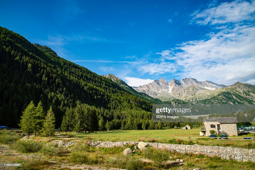A general view of The Gran Paradiso National Park, the... : News Photo