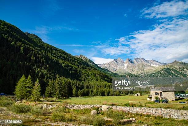 A general view of The Gran Paradiso National Park the oldest Italian National Park located close to the regions of Valle d'Aosta and Piedmont It is...