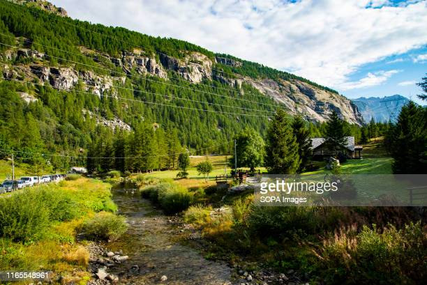General view of The Gran Paradiso National Park, the oldest Italian National Park located close to the regions of Valle d'Aosta and Piedmont. It is...