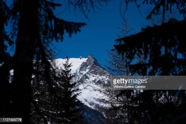 General view of the Gran Paradiso on February 04, 2019 in Cogne, Italy.
