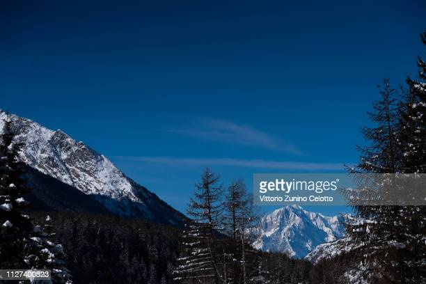 General view of the Gran Paradiso on February 04, 2019 in UNSPECIFIED, Italy.