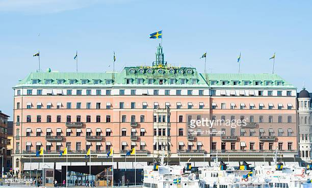 General view of the Grand Hotel on the 70th birthday of King Carl Gustaf of Sweden on April 30, 2016 in Stockholm, Sweden.
