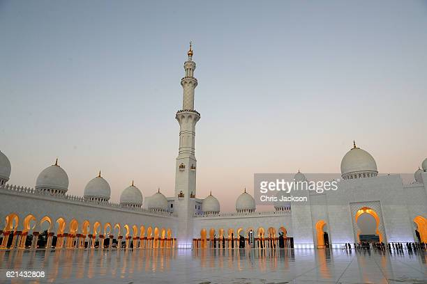 General view of the Grand Mosque on the first day of a Royal tour of the United Arab Emirates on November 6, 2016 in in Abu Dhabi, United Arab...