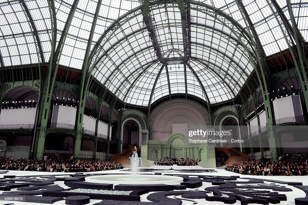 General view of the 'Grand Palais' during the Chanel show as part of Paris Fashion Week Spring/Summer 2011 at the 'Grand Palais' in Paris.