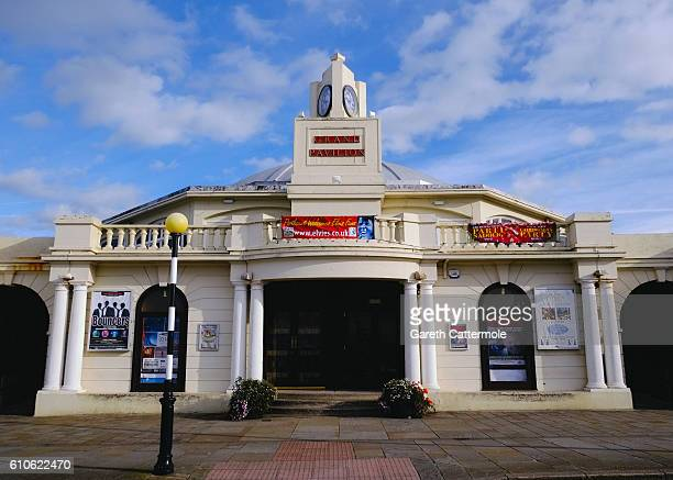 General view of the Grand Pavillion which acts as one of the main venues during 'The Elvies' on September 24, 2016 in Porthcawl, Wales. 'The Elvies'...
