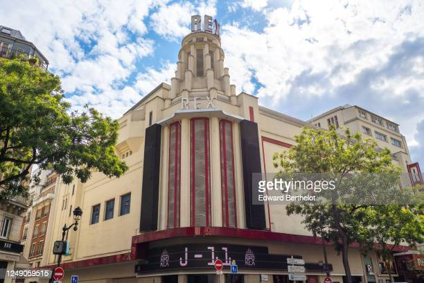 General view of the Grand Rex cinema which displays the message J11 as it will reopen on June 22nd 2020 after several weeks of being closed since the...