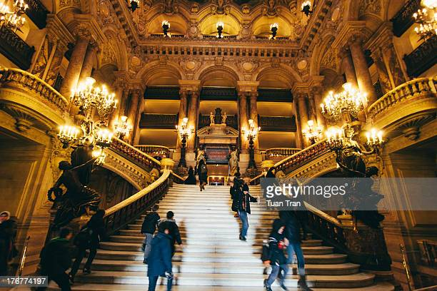 CONTENT] A general view of the Grand Staircase inside the Palais Garnier Paris France Photo taken on December 14 2010