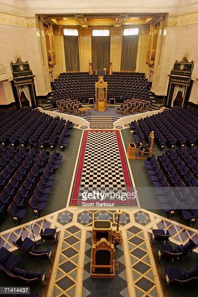 A general view of the Grand Temple inside of Freemason's Hall on July 11 2006 in London England Royal objects will be on display for the first time...