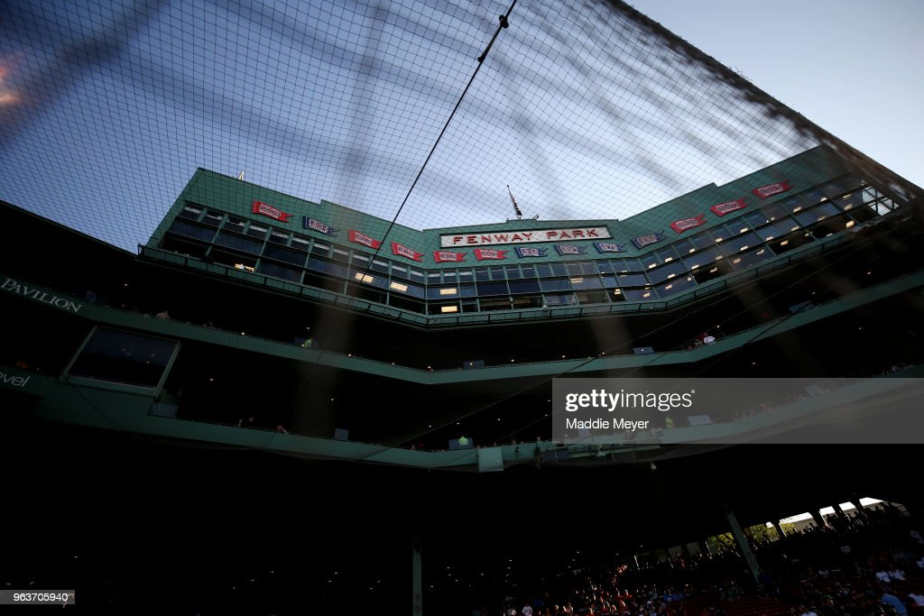 A general view of the grandstand at Fenway Park on May 29, 2018 in Boston, Massachusetts.