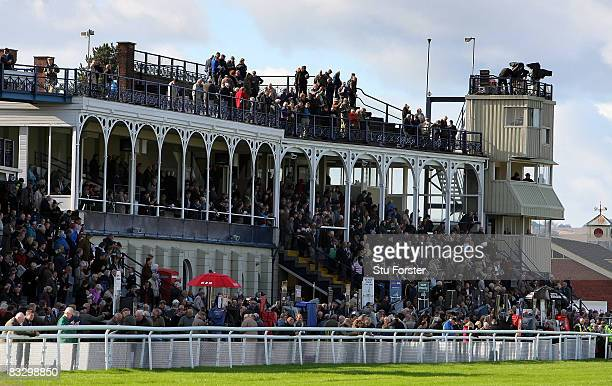 A general view of the Grandstand at Ludlow Racecourse on October 16 2008 in Ludlow England