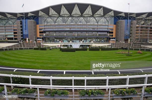 General view of the grandstand before The Prince's Countryside Fund Racing Weekend at Ascot Racecourse on November 24 2018 in Ascot England