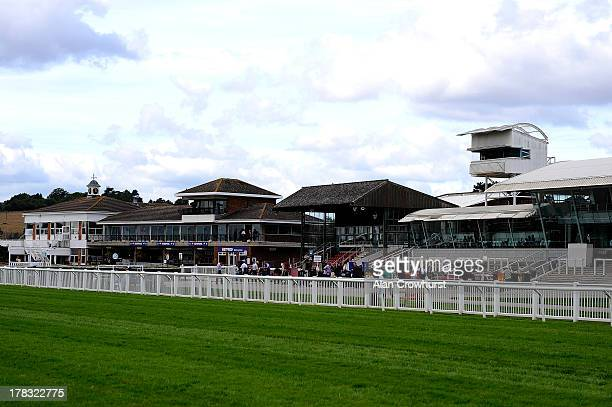 A general view of the grandstands at StratforduponAvon racecourse on August 29 2013 in Stratford England