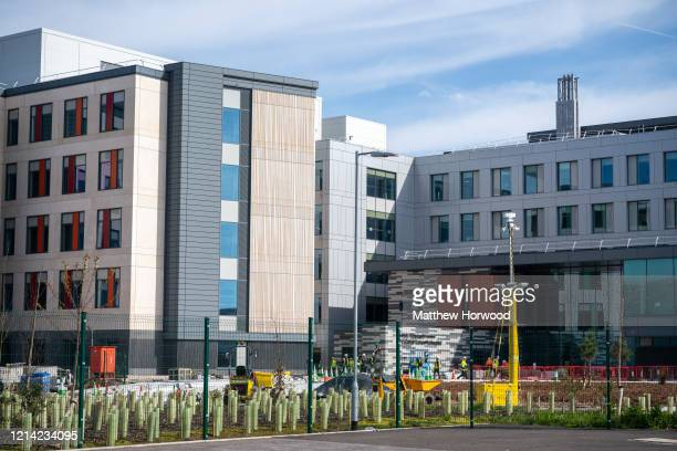 A general view of the Grange University Hospital on March 23 2020 in Cwmbran United Kingdom The new £350m hospital will open a year early in a bid to...