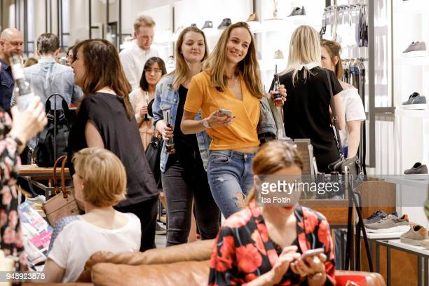 A general view of the GRAZIA Style Cocktail at ECCO on April 19 2018 in Hamburg Germany