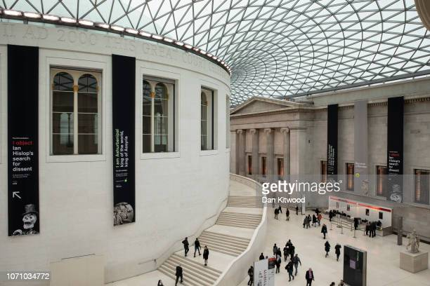 A general view of the Great Court at the British Museum on November 22 2018 in London England The Governor of the Easter Islands Tarita Alarcón Rapu...