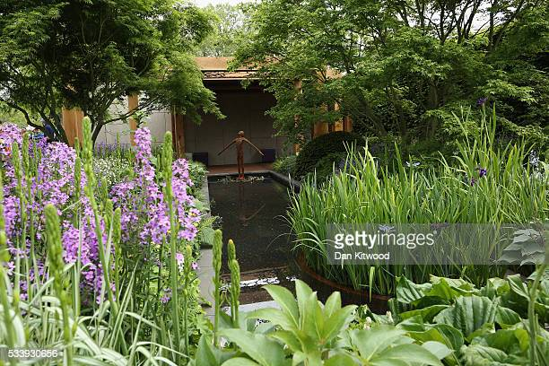 A general view of the Great Ormond Street Hospital garden at the 2016 Chelsea Flower Show at Royal Hospital Chelsea on May 24 2016 in London England...