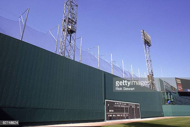 General view of the Green Monster taken in 1992 at Fenway Park in Boston, Massachusetts.