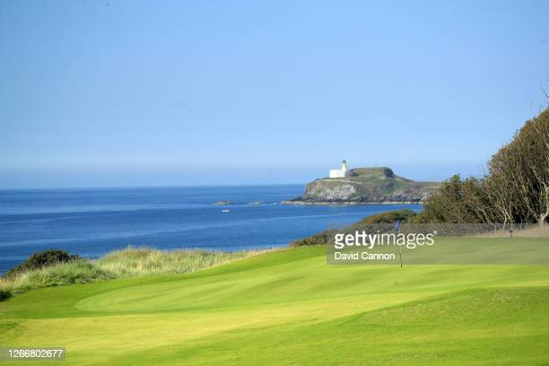 General view of the green on the par 4, 13th hole at The Renaissance Club on August 12, 2020 in North Berwick, Scotland.