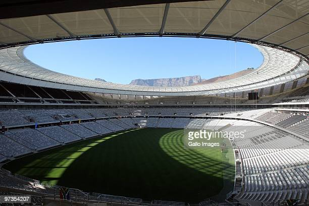 A general view of the Greenpoint stadium in Cape Town ahead of the FIFA 2010 World Cup March 01 2010 in Cape Town