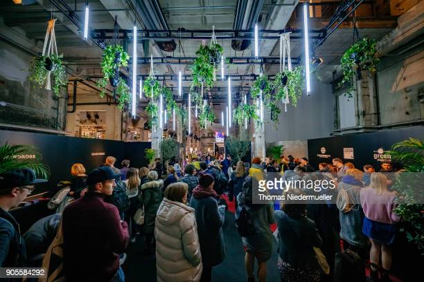 A general view of the Greenshowroom Ethical Fashion Show Berlin at Kraftwerk Mitte on January 16 2018 in Berlin Germany