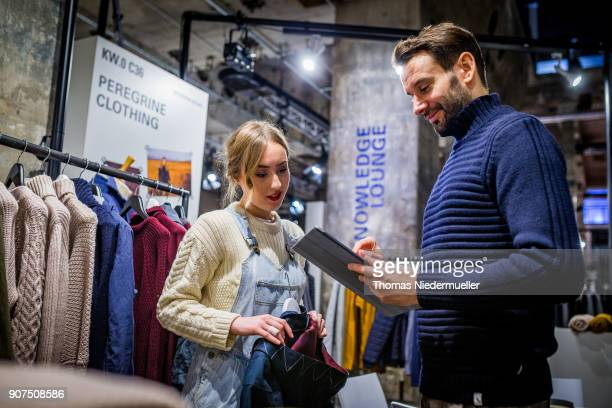 A general view of the Greenshowroom Ethical Fashion Show Berlin at Kraftwerk Mitte on January 17 2018 in Berlin Germany